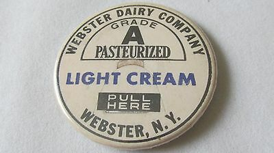 Vintage Webster Dairy Company, Webster, N.y. Round Advertising Pin/magnet/wow