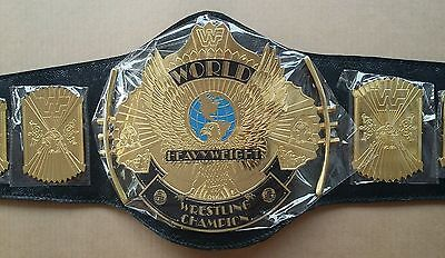 2 Pcs  WWE/WWF Classic Gold Winged Eagle Championship replica Belt Adult 2x