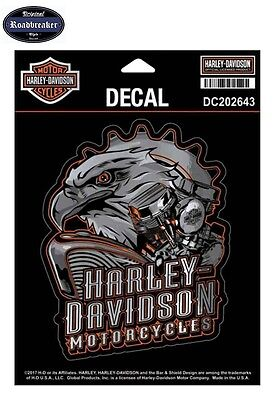 Harley Davidson Sticker Aufkleberset Modell Eagle Engine Chrome