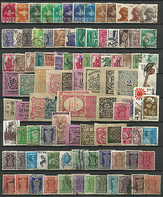 INDIA STAMP COLLECTION  PACKET of 200 DIFFERENT Stamps mainly USED