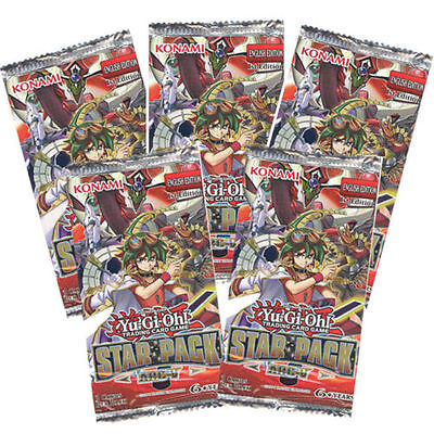 YuGiOh! Star Pack Arc V Booster RARE New Sealed 1st Edition 5x packs