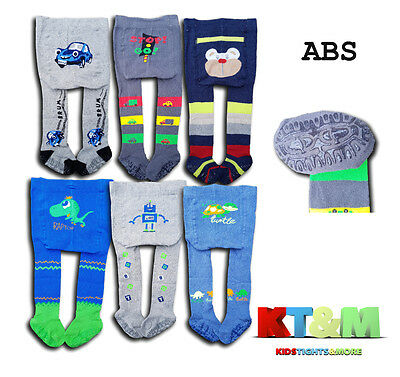 Boys Baby Toddler Cotton ABS Tights Anti slip Silicone Sole Size 6Months-3Years