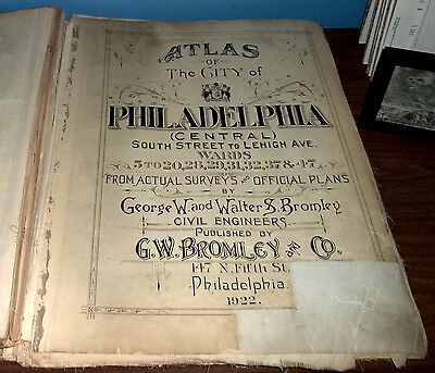 Atlas of the City Of Philadelphia, Central, 1922.(28 of 29 maps)