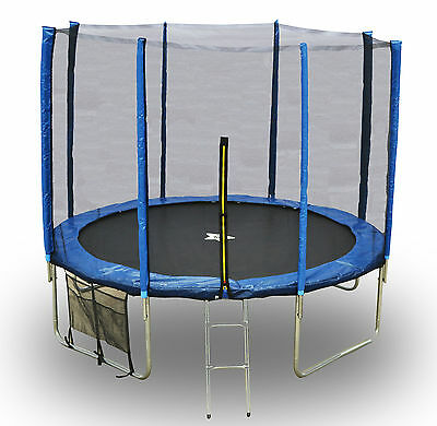 Evostar II Trampoline and Enclosure Package + Ladder, Weather Cover & Shoe Bag