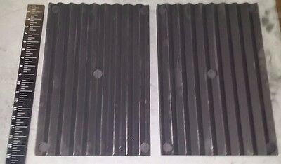 "2 Graphite Plates Electrolysis Rust Removal  V-Groove Surface Area 18""x12""x1.5"""