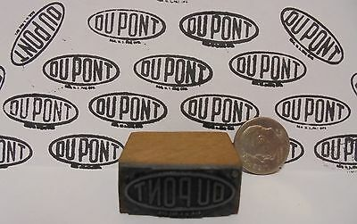 Vintage DUPONT Oil Printing Block Sign Gas Station Motor Oil Display ite