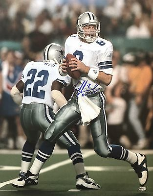 Troy Aikman Signed Dallas Cowboys 16x20 With COA