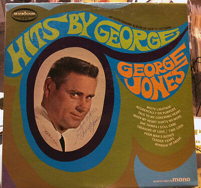 Super Rare George Jones Autographed Lp By George And The Entire Band!!