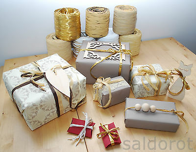 Raffia NATURAL SHADES * Flowers Gifts Crafts Scrapbooks  MULTIAUCTION FAST&CHEAP