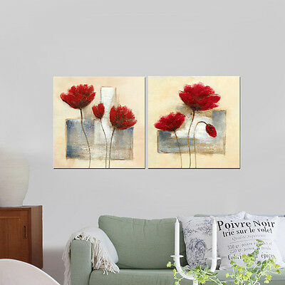 Canvas Print Painting Pictures Abstract Flowers Home Decor Wall Art Framed