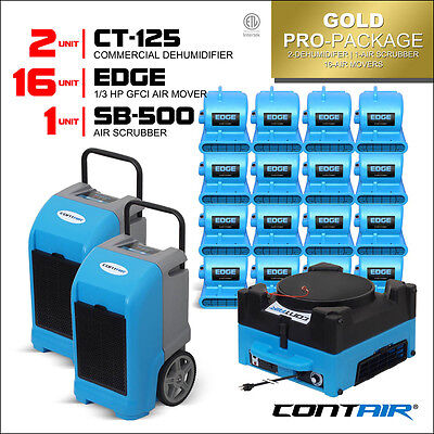 Gold Pro Pack Commercial Dehumidifiers and Air Movers and Air Scrubbers in Blue