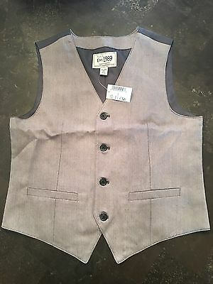 Boys Vest Size 14 New NWT Easter Button Up Vest New*******