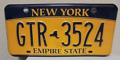 2012 New York  Empire State Gold License Plate Gtr 3524 Used