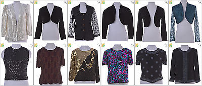 JOB LOT OF 29 VINTAGE PARTY TOPS - Mix of Era's, styles and sizes (22171)
