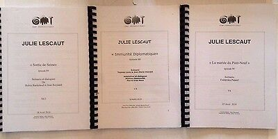 Lot 3 Scenario Tv Julie Lescaut Episode N°88 + 89 + 90