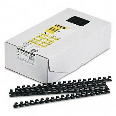 "Fellowes Plastic Comb Bindings 1/2"" Diameter 90 Sheet Capacity Black 100 Combs"