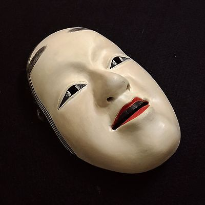 Miniature Japanese mask of KO-OMOTE Noh Kabuki Hannya Oni Demon Evil Wooden