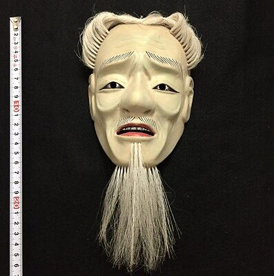 Miniature Japanese mask of SHOI Noh Kabuki Hannya Oni Demon Evil Wooden