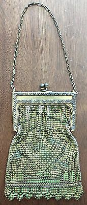 Vintage Mesh Whiting And Davis Bag.  Metal Coin Purse.