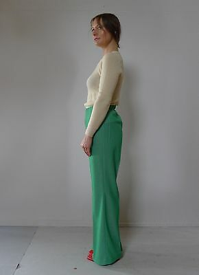 Vintage retro true 70s S M unused green pants flares High waist NOS