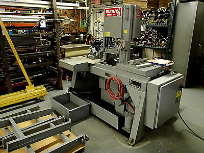MARVEL AUTOMATIC V10A Vertical Miter BANDSAW shuttle infeed coolant used saw 3ph