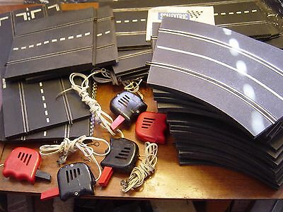 1960's TRI-ANG Scalextric Rubber Track 30 Pcs MM/T21 5 Controls,Manual England