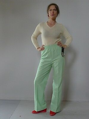 Vintage retro true 70s 10 S unused light green pants flares High waisted NOS