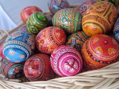 """Easter eggs beautiful crafted traditional kids friendly Polish Russian,1 1/2"""""""