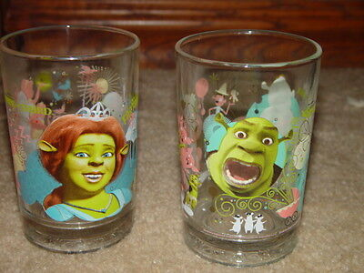 McDonald's Shrek The Third Glass Glasses Set of 2