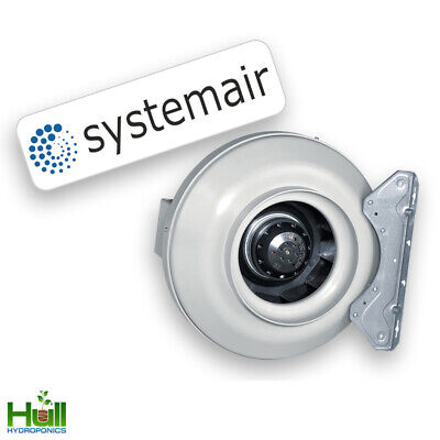 Systemair RVK 4 5 6 8 10 12 Inch Inline Ducting Extraction Fan Hydroponics A1 L1