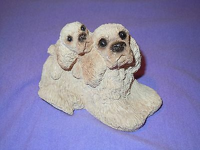 Resin Cocker Spaniel Figurine Puppy 'Stone Critters' Dogs Animals Collectible