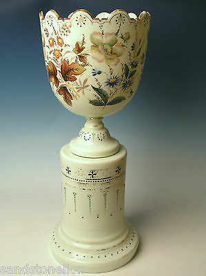 Important 19th Century New England Glass 2 piece Large Urn/Vase Monteith Bowl