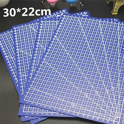 A4 Double Cutting Plate Grid Lines Cutting Mats Craft Card Office 30*22cm UU