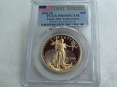 2006-W $10 Gold Eagle-20th Anniversary   /   PCGS First Strike - Proof DCAM