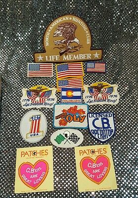 Vintage Mixed Lot Of 14 Patches