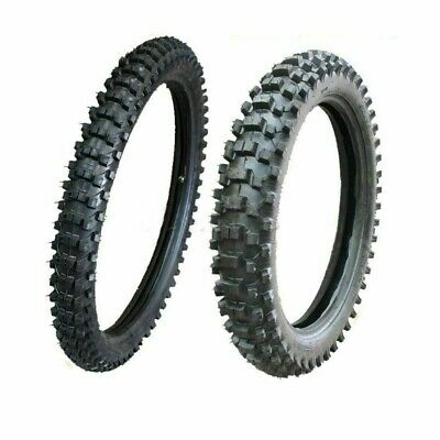 "Knobby Tyre Tire & Tube 80/100-21"" Front+110/90-18 Inch Rear Pit Dirt Trail Bike"