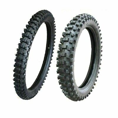 "Knobby Tyre Tire & Tube 80/100-21"" Front+90/100-18 Inch Rear Pit Dirt Trail Bike"