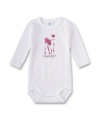 Sanetta Girls Baby body suit Long sleeved Spatzl pink sz. 56,62,68,74,80,86,92