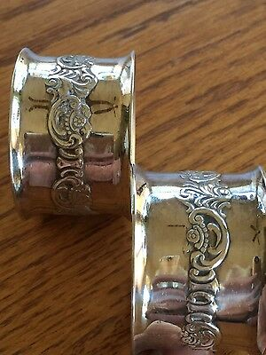 Wallace Baroque napkin rings silverplate # 734