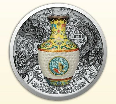 Niue 2016 1$ Technology that Changed the World - Qing Dynasty Vase Proof Silver