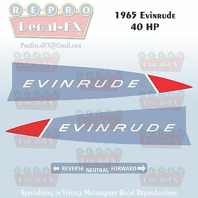 33752-53 1967 Evinrude 33 HP Outboard Reproduction 6 Pc Vinyl Decals 33702-03