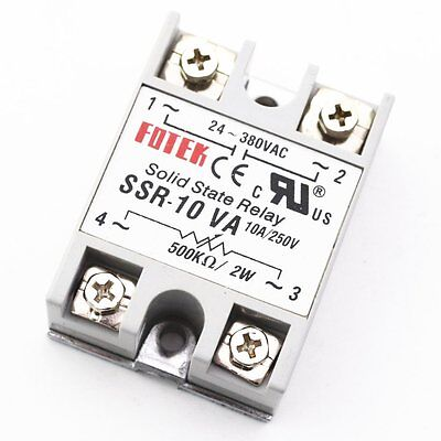 10X Solid State Relay  SSR-10VA 10A control potentiometer Input 24-380VAC Output