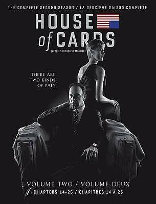 House of Cards: Season 2 (Blu-ray + Digital HD, 2014, Canadian) NEW Two Second
