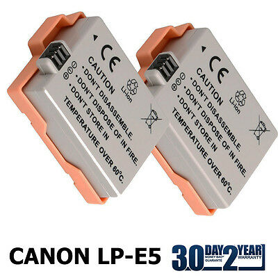 2x Battery for  LP-E5 Canon EOS 450D 500D 1000D Digital Rebel Xsi UK LOCAL