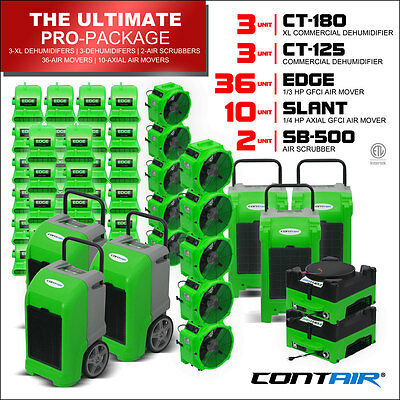 Water Damage Industrial Dehumidifiers and Air Movers and Air Scrubbers in Green