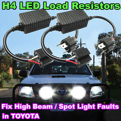 2X H4 LED Headlight Load Resistor Decoder, Solve High Beam Malfunction in TOYOTA