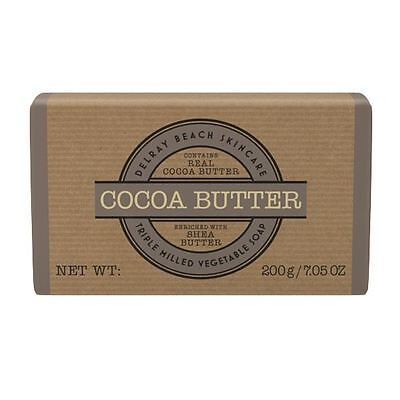 Delray Beach Skincare Cocoa Butter Triple Milled Vegetable Soap