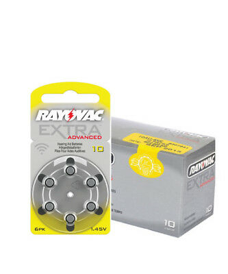 Box of Rayovac Extra Hearing Aid Batteries size 10 (60 cells)