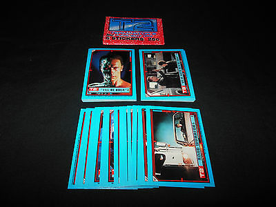 Terminator 2 Judgment Day Complete 44 Trading Card Sticker Set Topps 1991