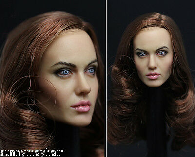 "1/6 Angelina Jolie Female Women Girl Head F Hot Toys 12"" Action Figure HT Body"